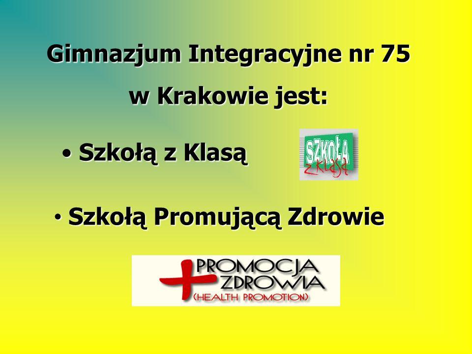 Gimnazjum nr 75 Integracyjne Kraków Istnieje od 2002 r.