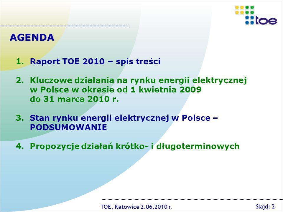 TOE, Katowice 2.06.2010 r.Towarzystwo Obrotu Energią ul.