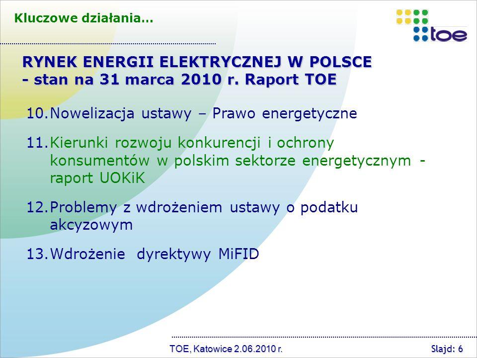 TOE, Katowice 2.06.2010 r.P1. Projekt ustawy o efektywności energetycznej P2.