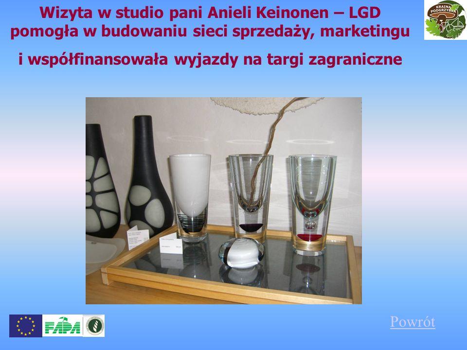 Wizyta w studio pani Anieli Keinonen – LGD pomogła w budowaniu sieci sprzedaży, marketingu i współfinansowała wyjazdy na targi zagraniczne Powrót
