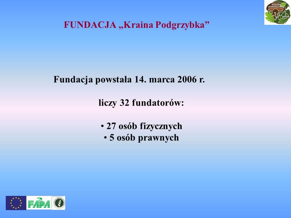 Fundacja powstała 14. marca 2006 r. liczy 32 fundatorów: 27 osób fizycznych 5 osób prawnych