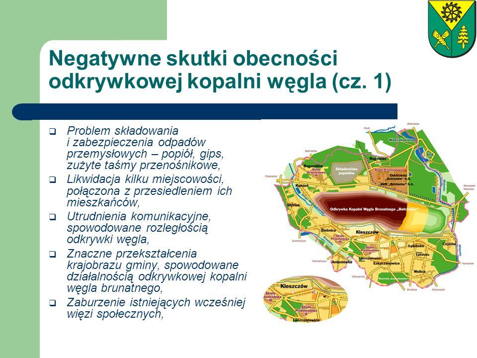 Negatywne skutki obecności odkrywkowej kopalni węgla (cz. 1) Problem składowania i zabezpieczenia odpadów przemysłowych – popiół, gips, zużyte taśmy p