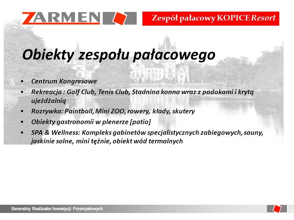 Zespół pałacowy KOPICE Resort Generalny Realizator Inwestycji Przemysłowych Pałac – charakterystyka Lp.Kategoria nakładówRodzajjmIlość 4.