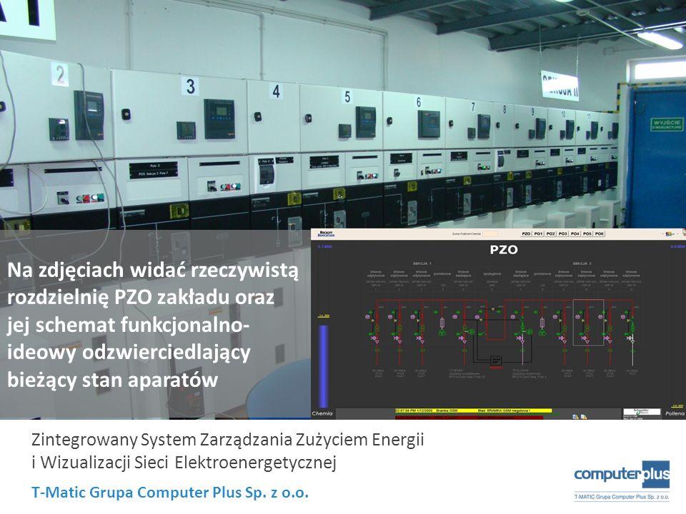 T-Matic Grupa Computer Plus Sp. z o.o. Zintegrowany System Zarządzania Zużyciem Energii i Wizualizacji Sieci Elektroenergetycznej Na zdjęciach widać r
