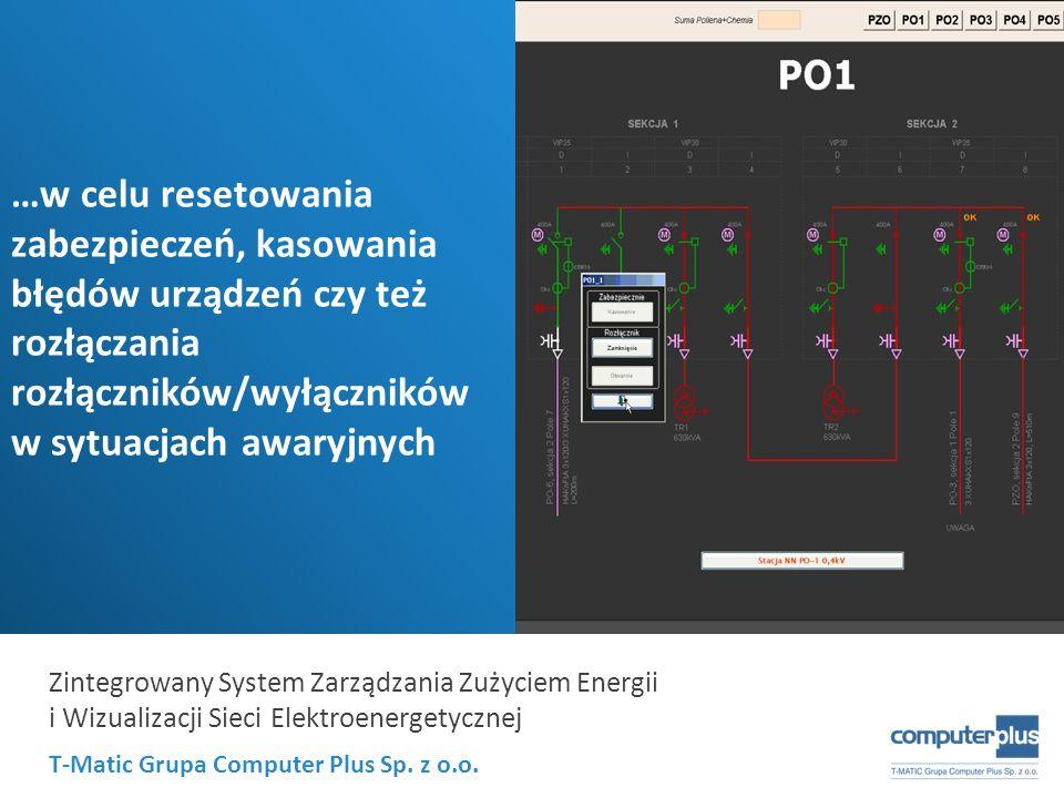 T-Matic Grupa Computer Plus Sp. z o.o. Zintegrowany System Zarządzania Zużyciem Energii i Wizualizacji Sieci Elektroenergetycznej …w celu resetowania