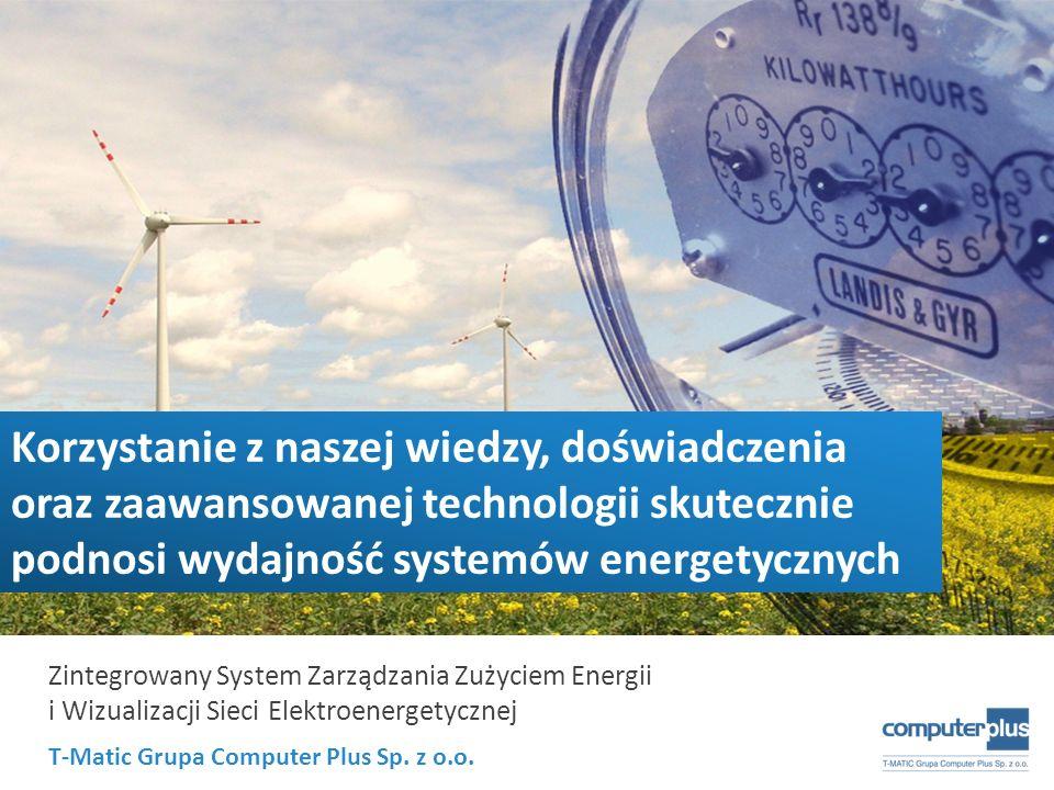 T-Matic Grupa Computer Plus Sp. z o.o. Zintegrowany System Zarządzania Zużyciem Energii i Wizualizacji Sieci Elektroenergetycznej Korzystanie z naszej