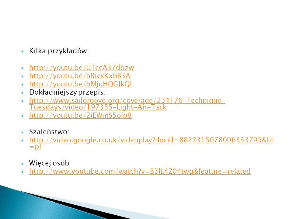 Kilka przykładów: http://youtu.be/UTccA37dbzw http://youtu.be/hBivxKxbB3A http://youtu.be/bMjuHQGJkQI Dokładniejszy przepis: http://www.sailgroove.org
