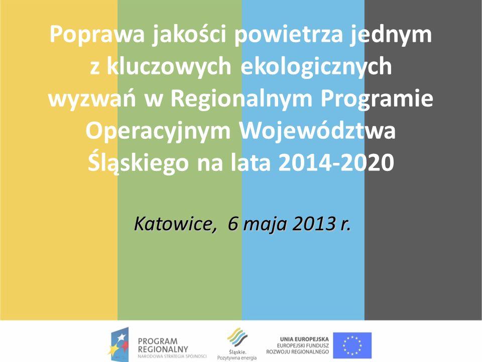 Poprawa jakości powietrza jednym z kluczowych ekologicznych wyzwań w Regionalnym Programie Operacyjnym Województwa Śląskiego na lata 2014-2020 Katowic