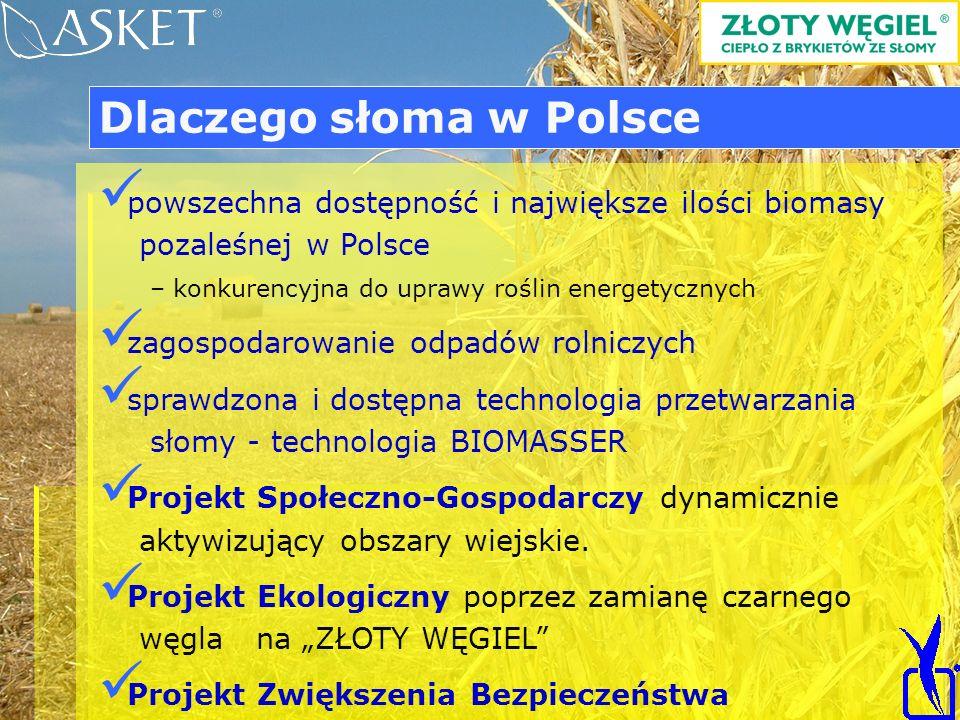 powszechna dostępność i największe ilości biomasy pozaleśnej w Polsce – konkurencyjna do uprawy roślin energetycznych zagospodarowanie odpadów rolnicz