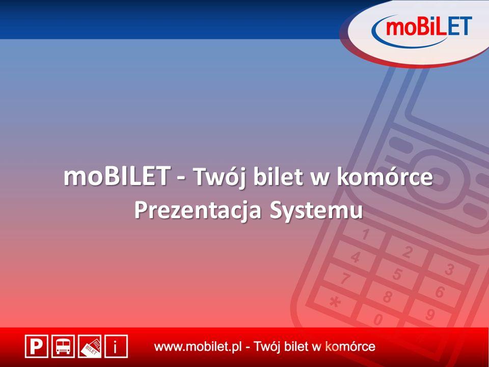 moBILET - Twój bilet w komórce Prezentacja Systemu