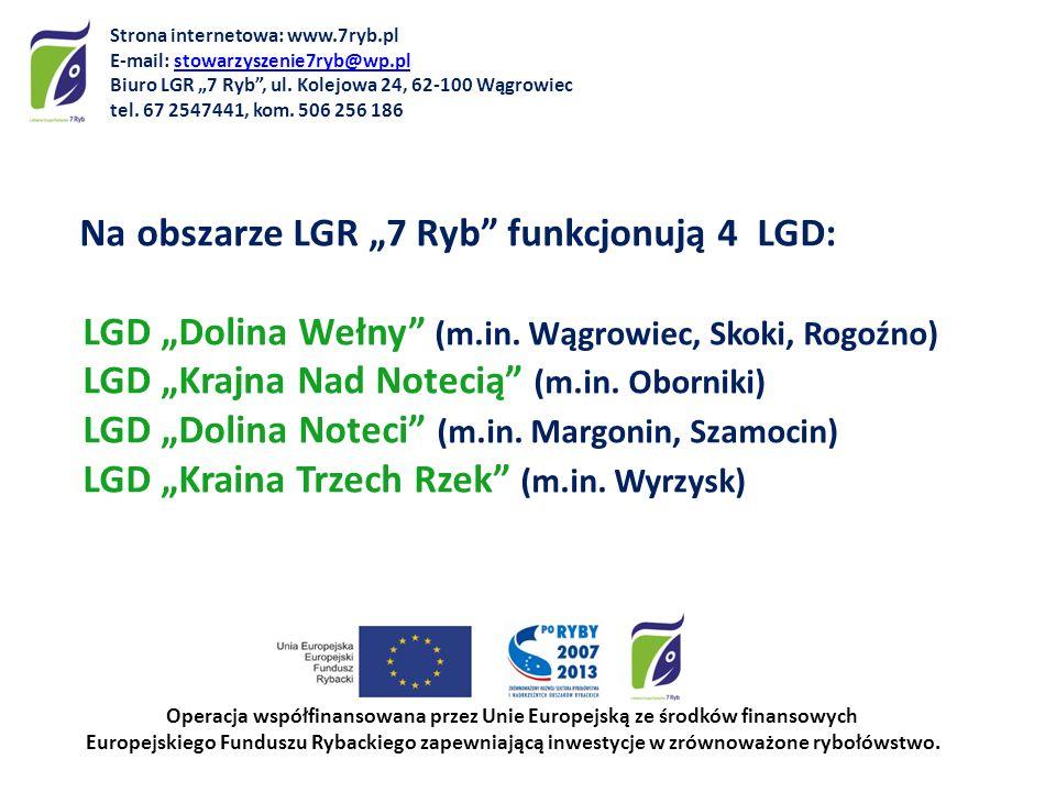 Na obszarze LGR 7 Ryb funkcjonują 4 LGD: LGD Dolina Wełny (m.in. Wągrowiec, Skoki, Rogoźno) LGD Krajna Nad Notecią (m.in. Oborniki) LGD Dolina Noteci