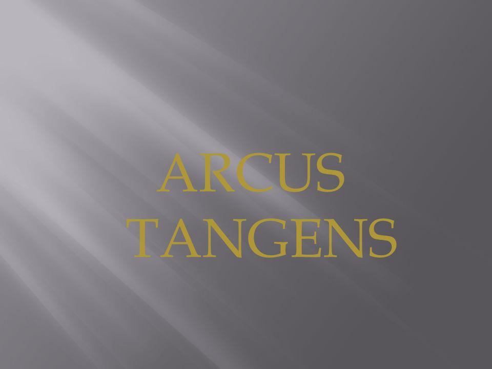 Arcus tangens jest funkcją odwrotną do funkcji tangens rozpatrywanej na przedziale (- π /2; π /2 ).