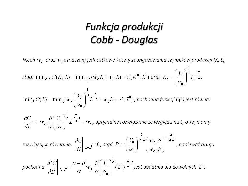 Funkcja produkcji Cobb - Douglas