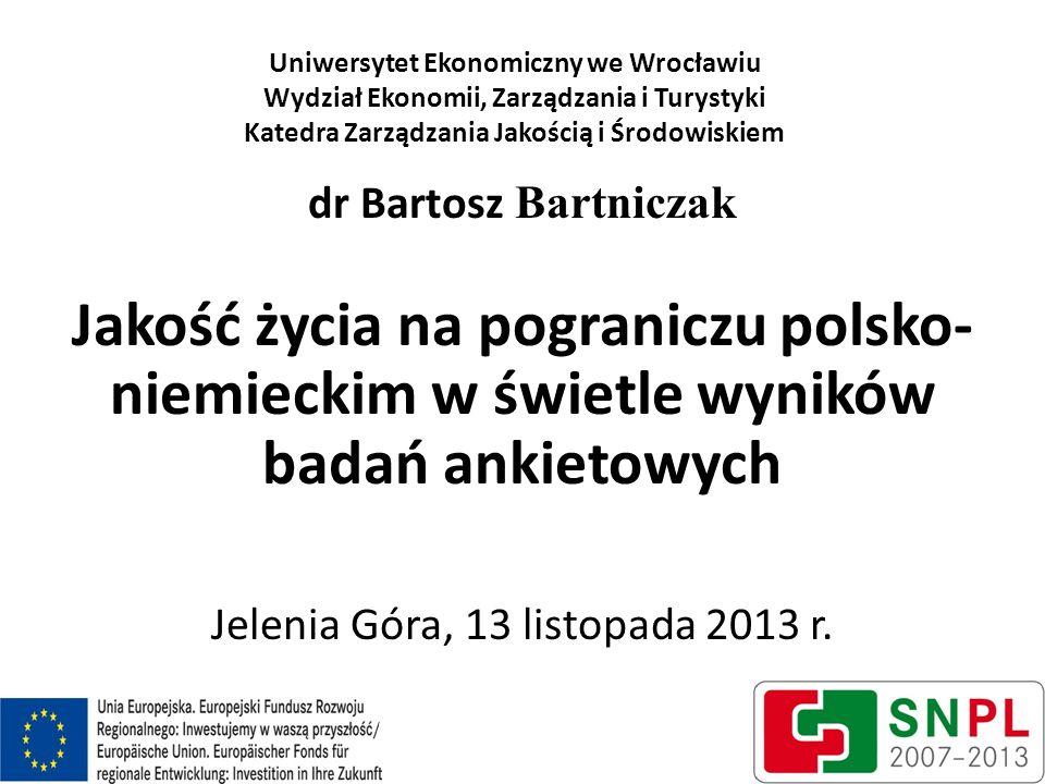 Uniwersytet Ekonomiczny we Wrocławiu Wydział Ekonomii, Zarządzania i Turystyki Katedra Zarządzania Jakością i Środowiskiem dr Bartosz Bartniczak Jakoś