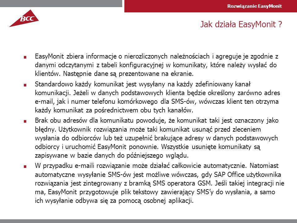 Rozwiązanie EasyMonit Jak działa EasyMonit .