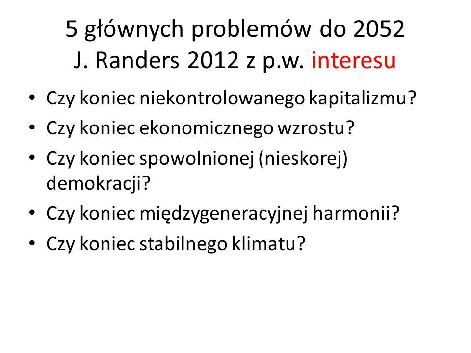 5 głównych problemów do 2052 J. Randers 2012 z p.w.