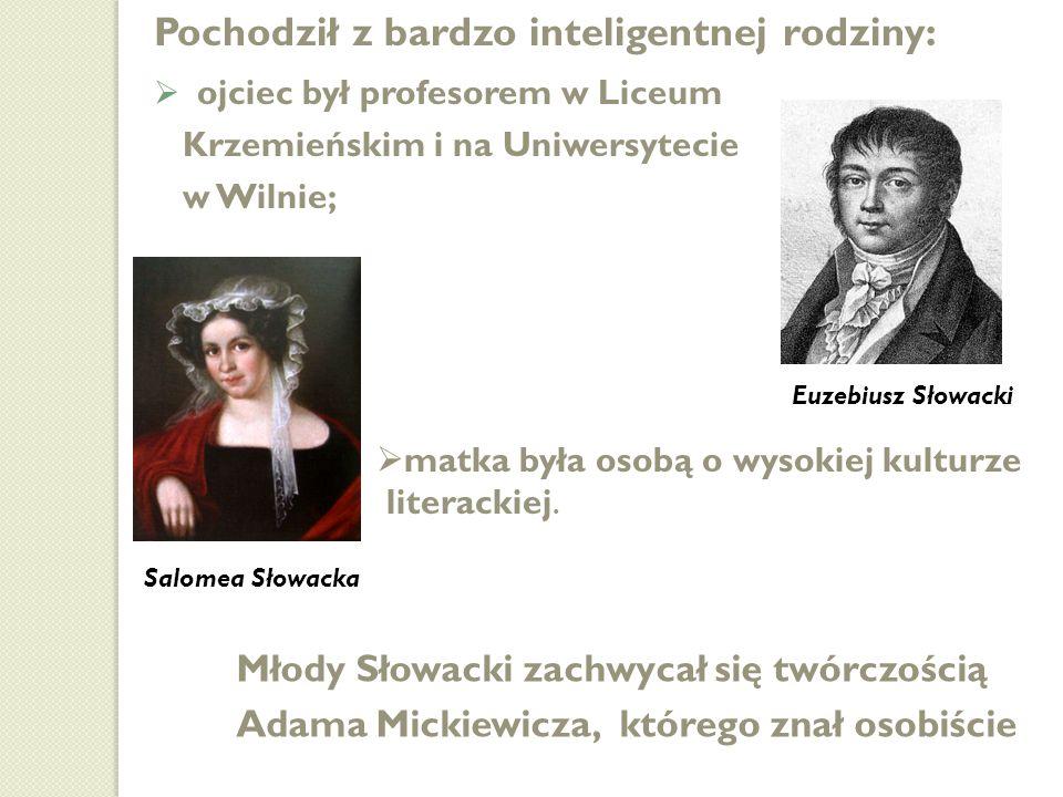 1825-1828 studiuje prawo na Uniwersytecie Wileńskim; 1825-1828 studiuje prawo na Uniwersytecie Wileńskim; 1829 wyjazd do Warszawy, pracuje jako aplikant w Komisji Rządowej Przychodów i Skarbu; 1829 wyjazd do Warszawy, pracuje jako aplikant w Komisji Rządowej Przychodów i Skarbu; 1831 zatrudniony w Biurze Dyplomatycznym Rządu Narodowego, wyjechał do Drezna, skąd udał się jako kurier dyplomatyczny do Londynu i Paryża, gdzie osiadł po zakończeniu misji; 1831 zatrudniony w Biurze Dyplomatycznym Rządu Narodowego, wyjechał do Drezna, skąd udał się jako kurier dyplomatyczny do Londynu i Paryża, gdzie osiadł po zakończeniu misji; 1832-1836 pobyt w Genewie; 1832-1836 pobyt w Genewie; 1836 podróż do Włoch, skąd wyruszył do Grecji, Egiptu i Palestyny (Podróż do Ziemi Świętej z Neapolu); 1836 podróż do Włoch, skąd wyruszył do Grecji, Egiptu i Palestyny (Podróż do Ziemi Świętej z Neapolu); 1838 powrót do Paryża; 1838 powrót do Paryża; 1849 umiera na gruźlicę; 1849 umiera na gruźlicę; pochowany na cmentarzu Montmartre; pochowany na cmentarzu Montmartre; 1927 jego prochy przewieziono do kraju i złożono obok Mickiewicza w krypcie na Wawelu.