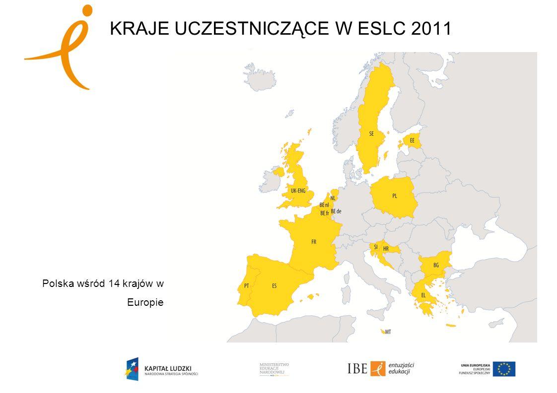 KRAJE UCZESTNICZĄCE W ESLC 2011 Polska wśród 14 krajów w Europie