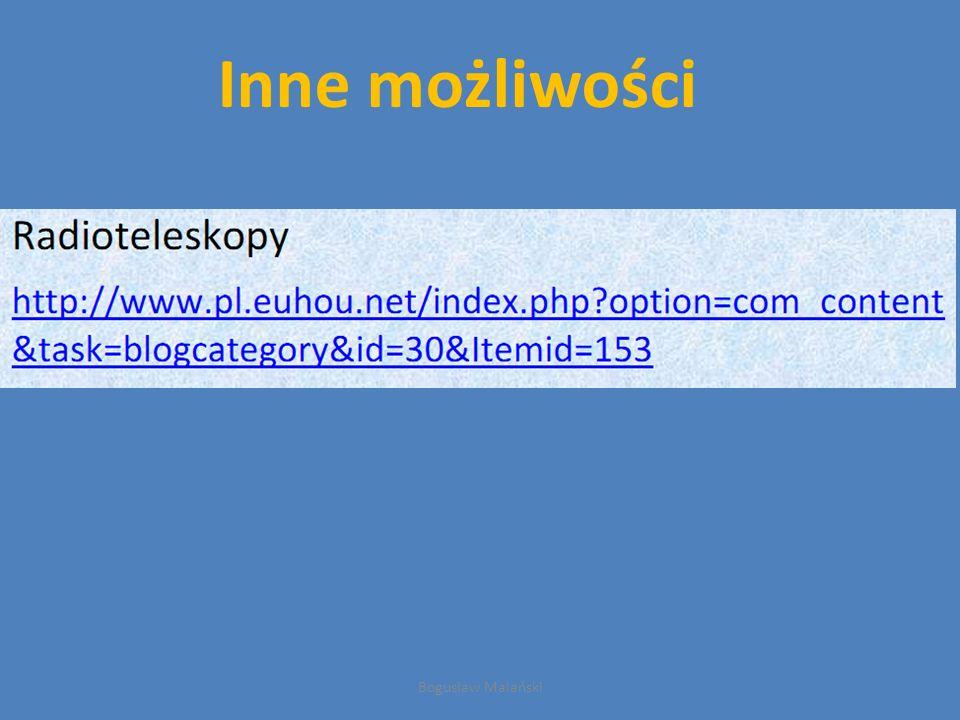 Inne możliwości Bogusław Malański