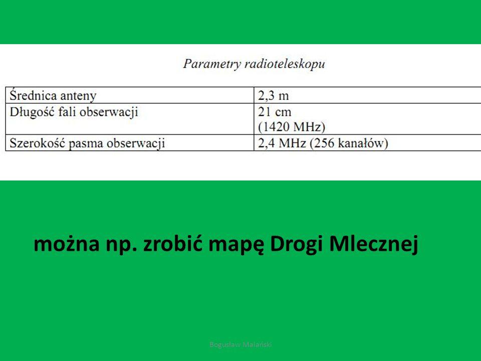 można np. zrobić mapę Drogi Mlecznej Bogusław Malański