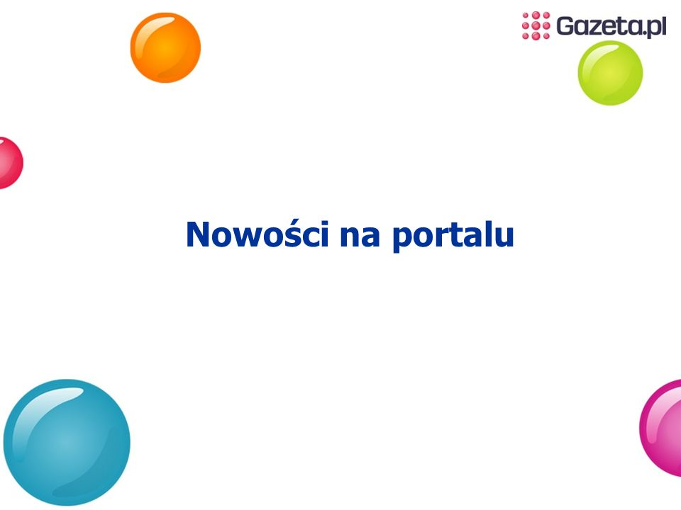 Nowości na portalu