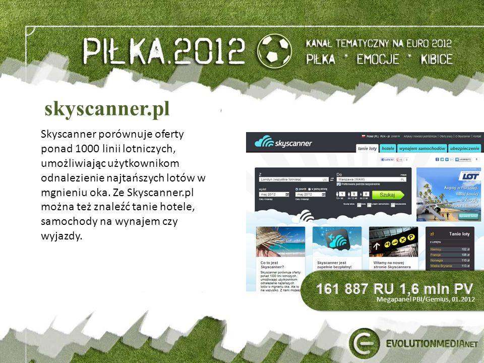 skyscanner.pl Skyscanner porównuje oferty ponad 1000 linii lotniczych, umożliwiając użytkownikom odnalezienie najtańszych lotów w mgnieniu oka.