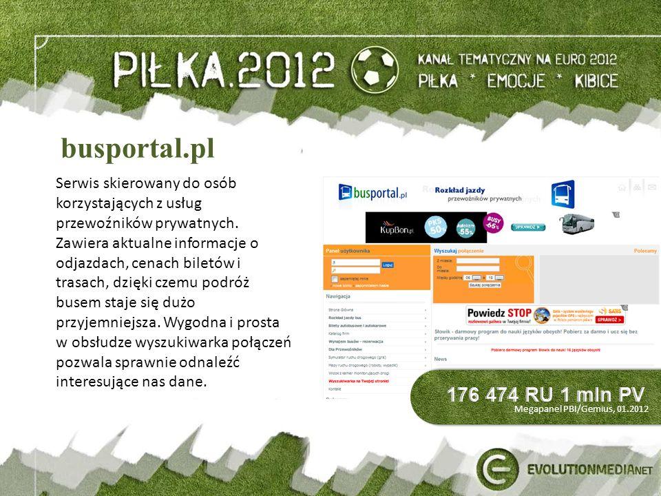 busportal.pl Serwis skierowany do osób korzystających z usług przewoźników prywatnych.