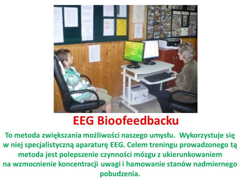 EEG Bioofeedbacku To metoda zwiększania możliwości naszego umysłu. Wykorzystuje się w niej specjalistyczną aparaturę EEG. Celem treningu prowadzonego