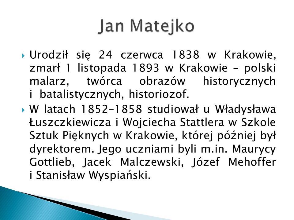 Urodził się 24 czerwca 1838 w Krakowie, zmarł 1 listopada 1893 w Krakowie – polski malarz, twórca obrazów historycznych i batalistycznych, historiozof.