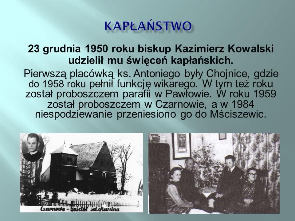 23 grudnia 1950 roku biskup Kazimierz Kowalski udzielił mu święceń kapłańskich.