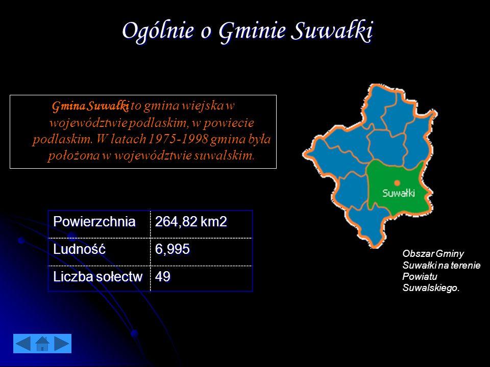 Ogólnie o Gminie Suwałki Gmina Suwałki to gmina wiejska w województwie podlaskim, w powiecie podlaskim. W latach 1975-1998 gmina była położona w wojew