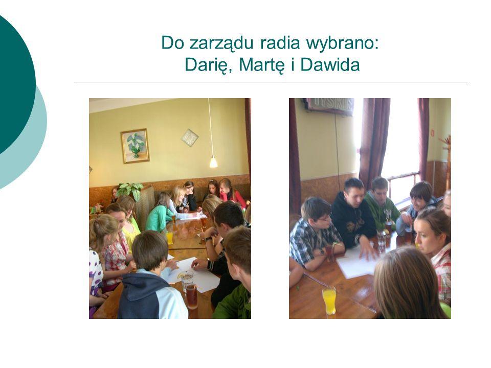 Do zarządu radia wybrano: Darię, Martę i Dawida