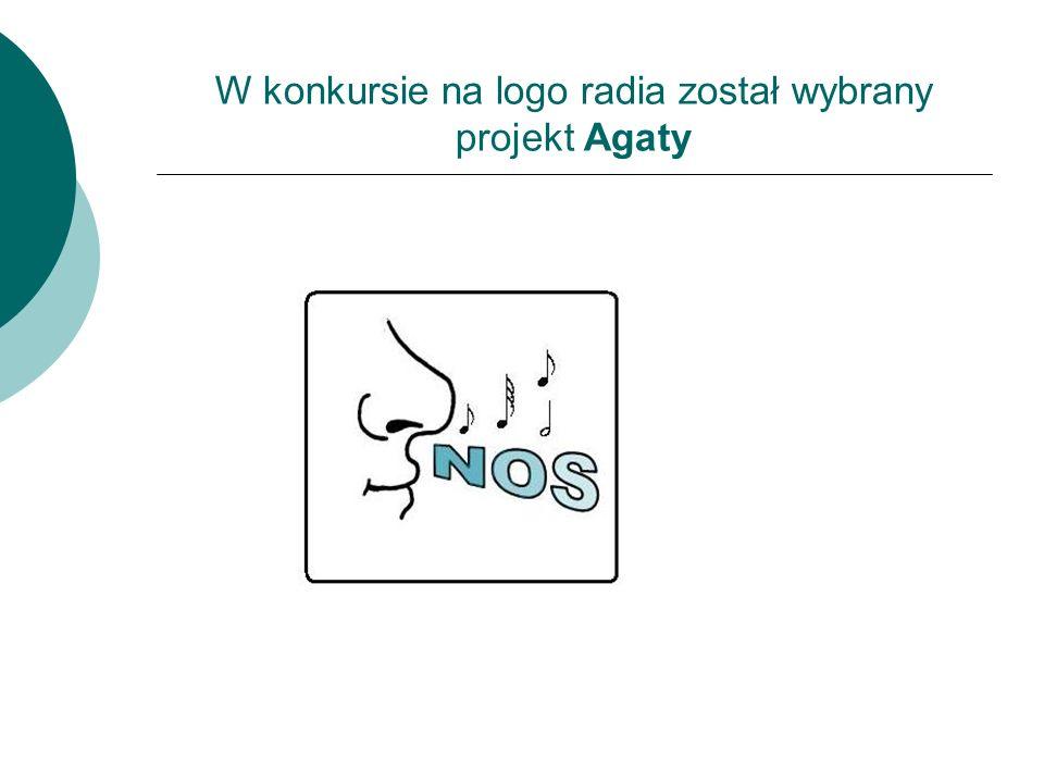 W konkursie na logo radia został wybrany projekt Agaty