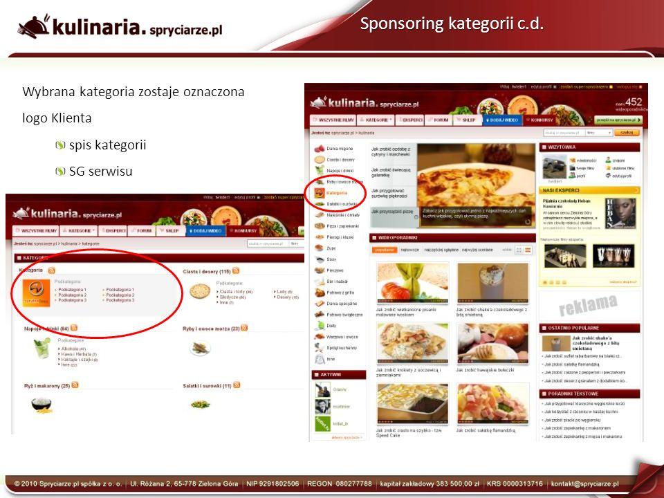 Sponsoring kategorii c.d.