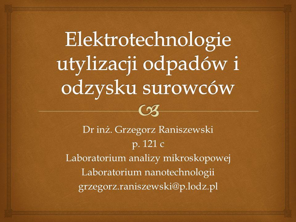 Dr inż.Grzegorz Raniszewski Instytut Mechatroniki i Systemów Informatycznych p.