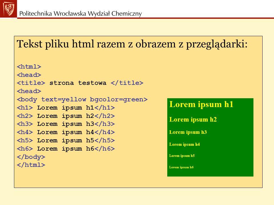 Tekst pliku html razem z obrazem z przeglądarki: strona testowa Lorem ipsum h1 Lorem ipsum h2 Lorem ipsum h3 Lorem ipsum h4 Lorem ipsum h5 Lorem ipsum h6