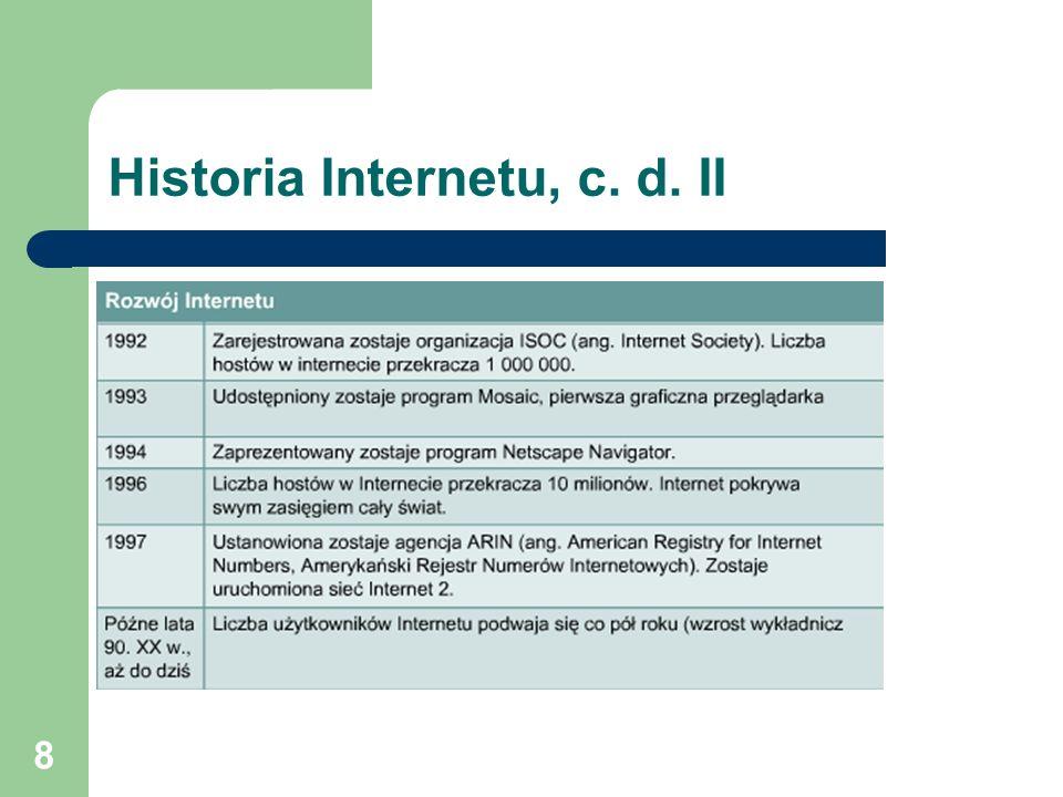 8 Historia Internetu, c. d. II
