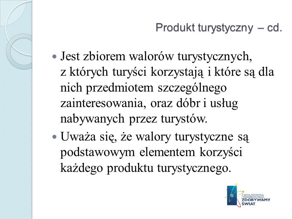 Produkt turystyczny – cd.