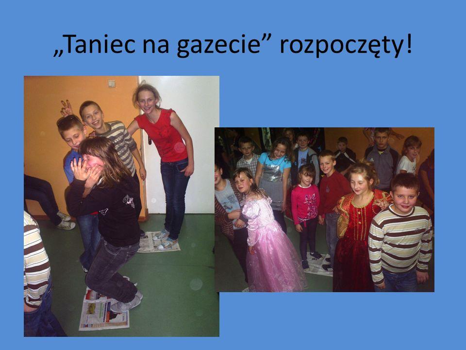 Zwycięzcy konkursu Taniec na gazecie: Małgosia Berlińska i Robert Tondera.