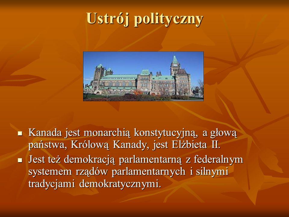 Ustrój polityczny Kanada jest monarchią konstytucyjną, a głową państwa, Królową Kanady, jest Elżbieta II. Jest też demokracją parlamentarną z federaln