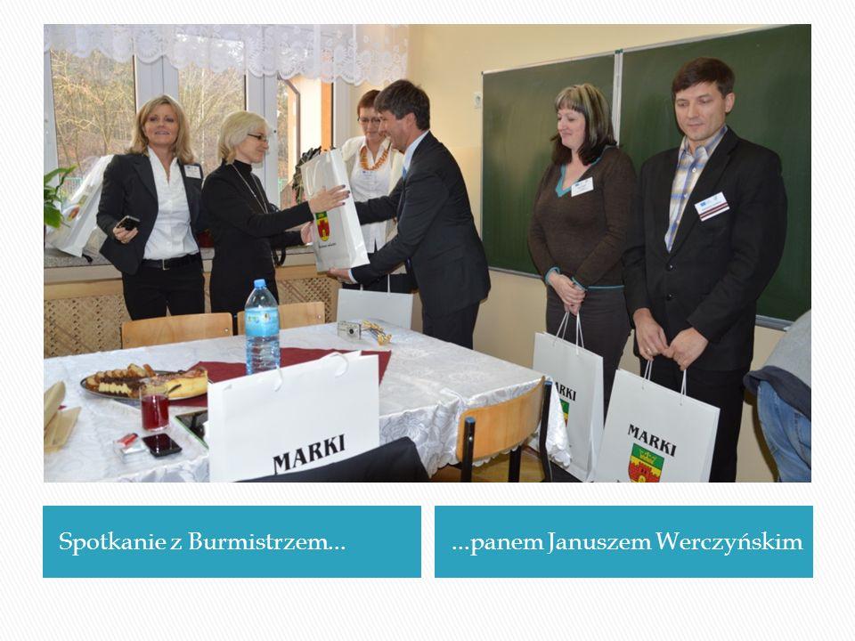 Spotkanie z Burmistrzem......panem Januszem Werczyńskim