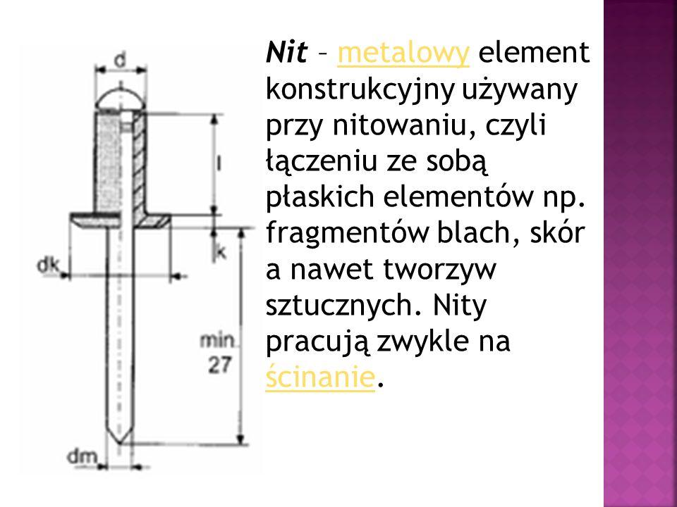 Nit – metalowy element konstrukcyjny używany przy nitowaniu, czyli łączeniu ze sobą płaskich elementów np. fragmentów blach, skór a nawet tworzyw sztu