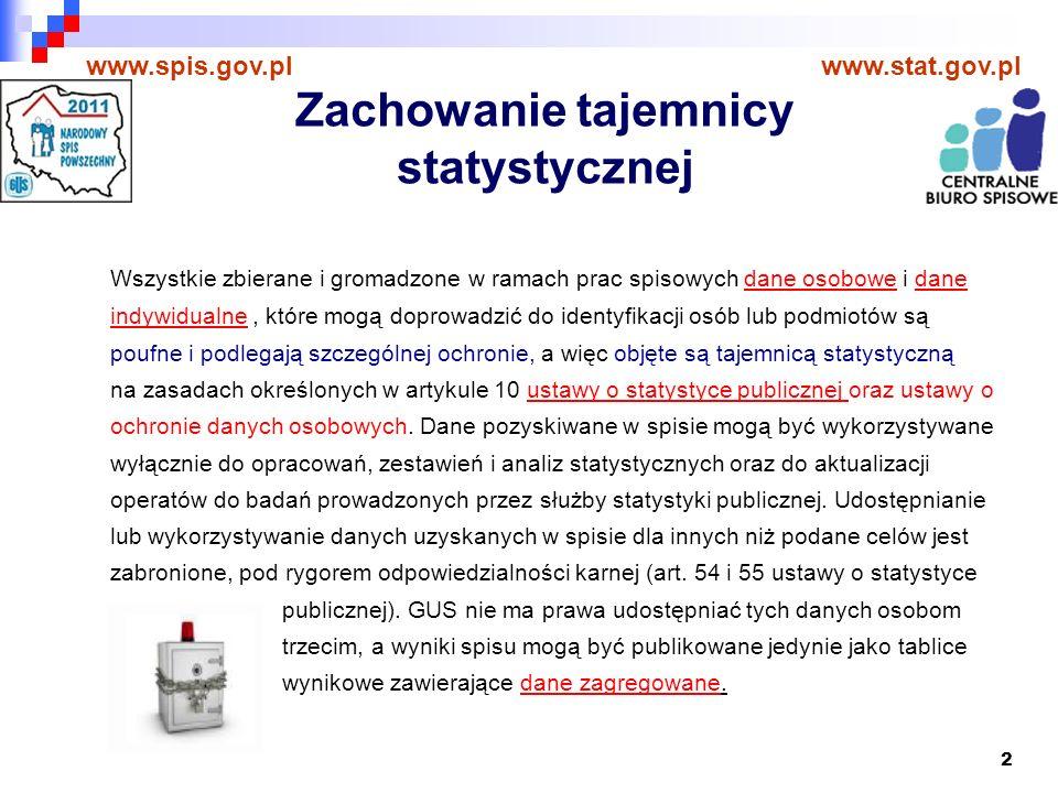 13 www.spis.gov.plwww.stat.gov.pl Obowiązek udzielania odpowiedzi W ustawie z dnia 4 marca 2010 r.