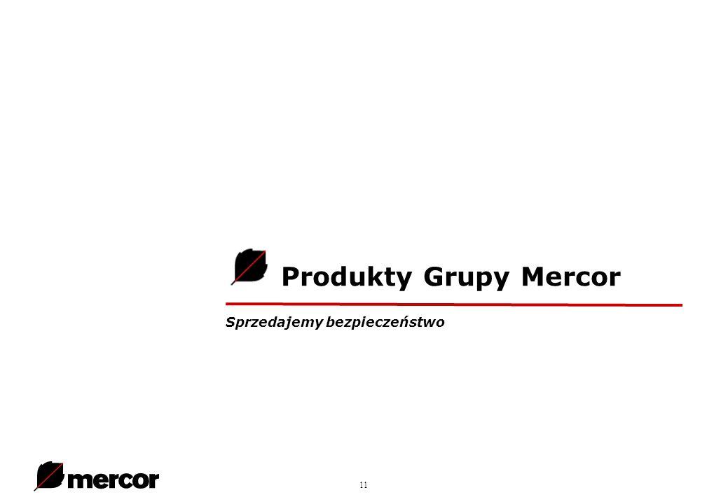 11 Produkty Grupy Mercor Sprzedajemy bezpieczeństwo