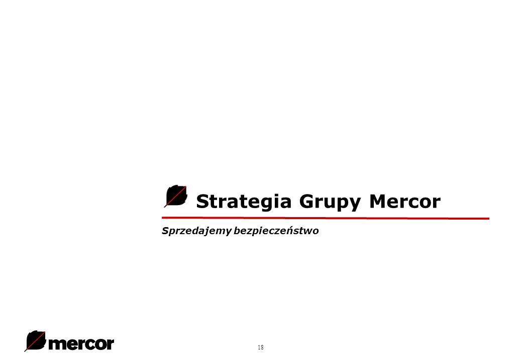 18 Strategia Grupy Mercor Sprzedajemy bezpieczeństwo