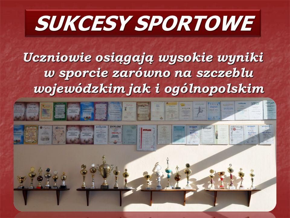 Uczniowie osiągają wysokie wyniki w sporcie zarówno na szczeblu wojewódzkim jak i ogólnopolskim SUKCESY SPORTOWE