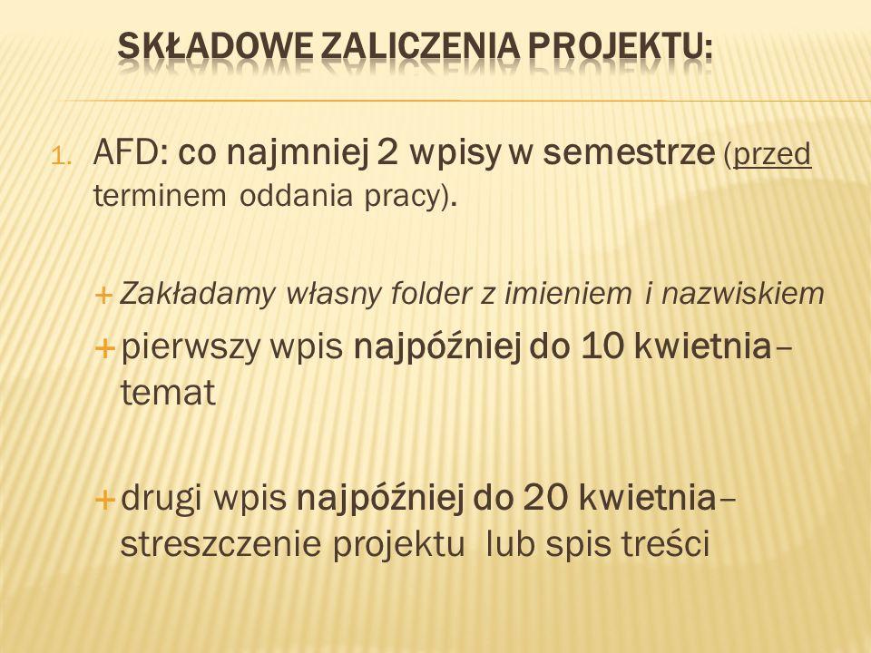 Termin oddania gotowego projektu: 20 maja 2012 r.