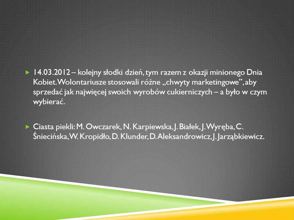 13.05.2012 – w tym dniu odbyło się rozdanie nagród i wyróżnień po rozstrzygnięciu konkursu plastycznego na nowe logo akcji Pola nadziei.
