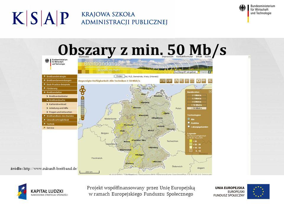Projekt współfinansowany przez Unię Europejską w ramach Europejskiego Funduszu Społecznego Obszary z min.