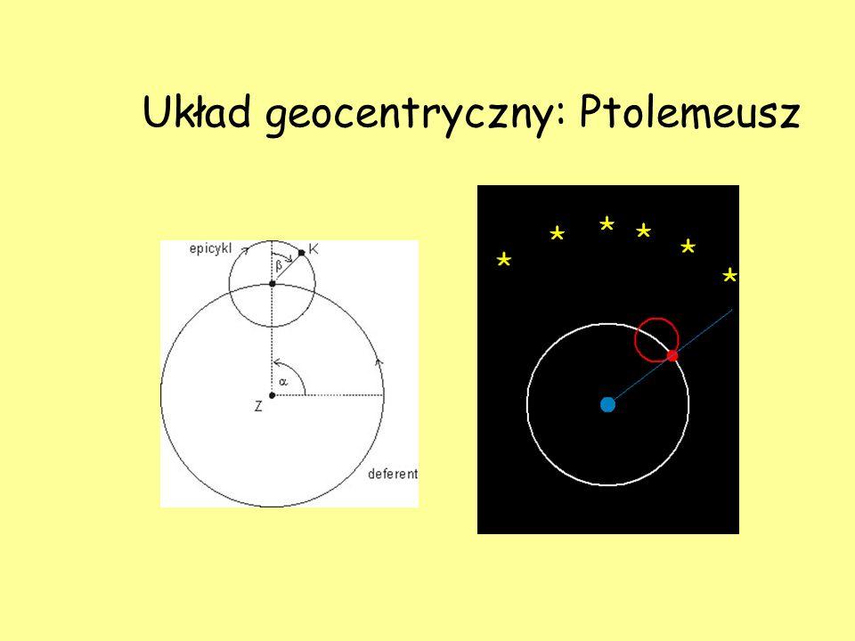 Układ geocentryczny: Ptolemeusz